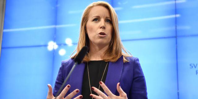 Centerpartiets partiledare Annie Lööf. Arkivbild. Stina Stjernkvist/TT / TT NYHETSBYRÅN
