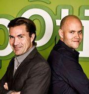 Spotify-grundarna Martin Lorentzon och Daniel Ek år 2006. Pressbild