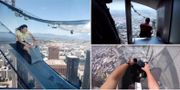 Nya glasbanan startar 300 meter upp på U.S. Bank Tower. Youtube