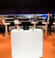 Partiledardebatten. Fredrik Sandberg/TT / TT NYHETSBYRÅN