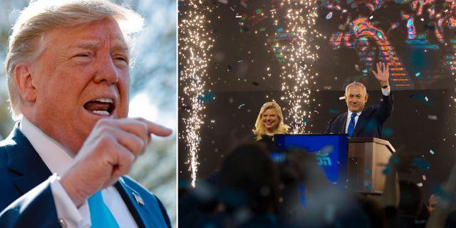 Donald Trump/Bejamin Netanyahu. TT