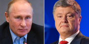 Putin och Porosjenko. TT
