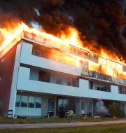 Bild från branden. DANIEL SJÖHOLM/TT / TT NYHETSBYRÅN