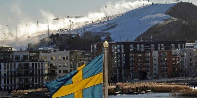 Hammarbybacken i Stockholm.  TT.