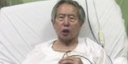 Perus tidigare president Alberto Fujimori i ett videoklipp på Facebook. Facebook