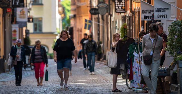 Turister i Gamla stan i Stockholm. Ali Lorestani/TT / TT NYHETSBYRÅN