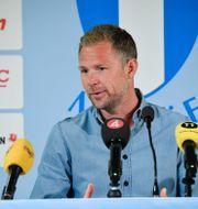 Magnus Pehrsson på måndagens presskonferens. Johan Nilsson/TT / TT NYHETSBYRÅN