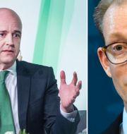 Fredrik Reinfeldt och Tobias Billström. TT
