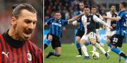 Zlatan Ibrahimovic/Inter mot Juventus. TT