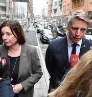 Isabella Lövin och Per Bolund. Jonas Ekströmer/TT / TT NYHETSBYRÅN