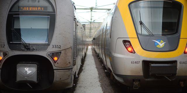 Tåg vid järnvägsstationen i Göteborg. FREDRIK SANDBERG / TT / TT NYHETSBYRÅN