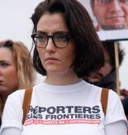 Demonstranter för fängslade journalister. Kamil Zihnioglu / TT NYHETSBYRÅN