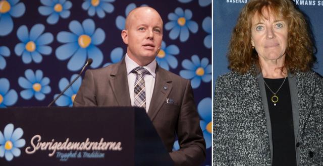 Arkivbilder: Björn Söder (t v), Margit Silberstein (t h). TT