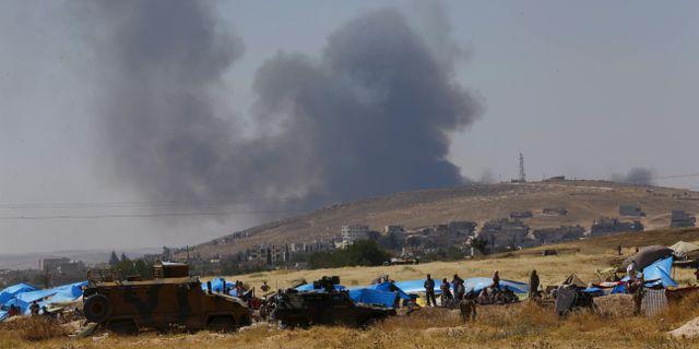 Turkiska soldater i norra Syrien. MURAD SEZER / TT NYHETSBYRÅN