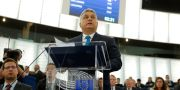 Viktor Orbán i Strasbourg. VINCENT KESSLER / TT NYHETSBYRÅN