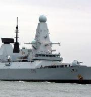 HMS Defender.  Ben Mitchell / TT NYHETSBYRÅN
