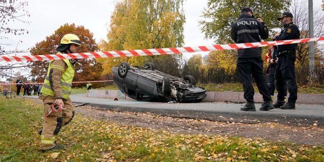 Den voltade bilen i Oslo.  Håkon Mosvold Larsen / TT NYHETSBYRÅN