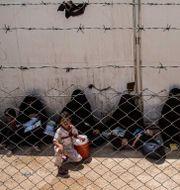 Arkivbild. Kvinnor och barn i al-Hol-lägret. Baderkhan Ahmad / TT NYHETSBYRÅN