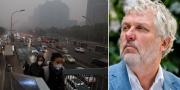 Luftföroreningar i Peking, Kina och Peter Eriksson (MP) TT/AP
