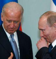 Joe Biden och Vladimir Putin. Arkivbild.  Alexander Zemlianichenko / TT NYHETSBYRÅN
