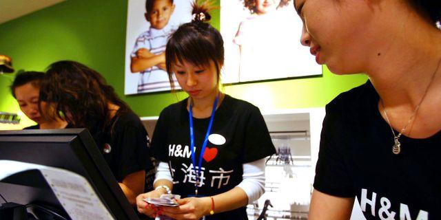 H&M i Shanghai. Arkivbild. TT NYHETSBYRÅN