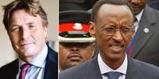 Thomas Boström och Rwandas president Paul Kagame. TT