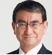 Taro Kono, Fumio Kishida och Shigeru Ishiba. Shutterstock & TT