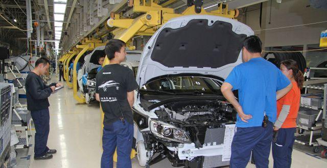 Fabrik i Kina. KARIN OLANDER / TT / TT NYHETSBYRÅN