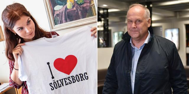 Louise Erixon (SD) och Jonas Sjöstedt (V). TT