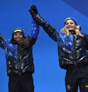 Charlotte Kalla och Stina Nilsson  LOIC VENANCE / AFP