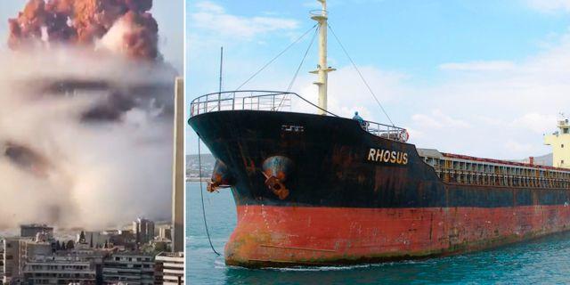 Explosionen i Beirut. MV Rhosus. TT