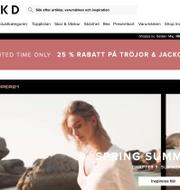 Skärmbild. Nakd.com