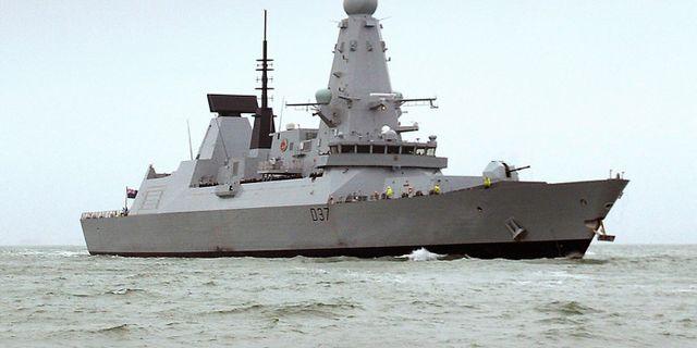 Stridfartyget HMS Duncan  Ben Sutton / TT NYHETSBYRÅN
