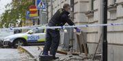 Bild från platsen.  Janerik Henriksson/TT / TT NYHETSBYRÅN