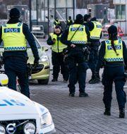 Gränspolis vid Lernacken i Malmö. Johan Nilsson/TT / TT NYHETSBYRÅN