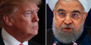 USA:s president Donald Trump och Irans president Hassan Rouhani. TT