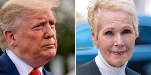 Donald Trump och E. Jean Carroll. TT