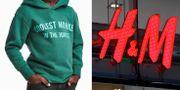 Reklambilden med pojken i tröjan har rört upp debatt och reaktioner. TT