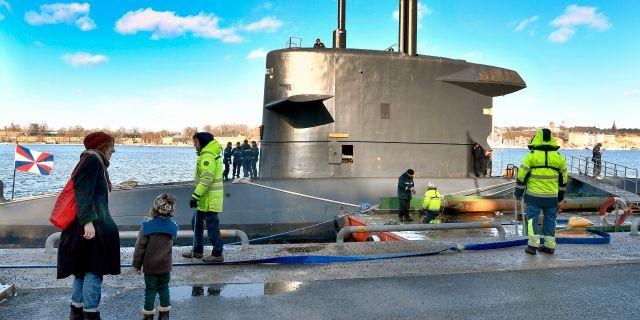 HNLMS Zeeleeuw i Stockholm. Claudio Bresciani/TT / TT NYHETSBYRÅN