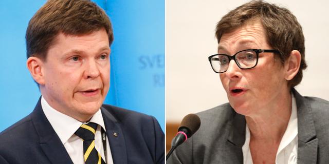 KU:s ordförande Andreas Norlén (M) och Maria Ågren, tidigare generaldirektör för Transportsyrelsen TT