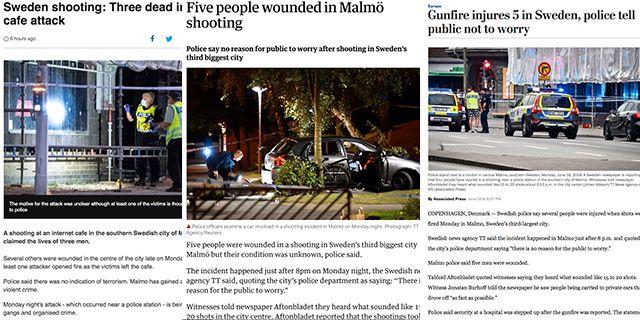 Bilder från utländska medier.