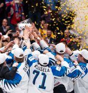 Finland lyfter VM-bucklan efter det senaste ishockey-VM:et, år 2019. JOEL MARKLUND / BILDBYRÅN
