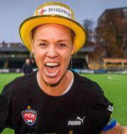Caroline Seger firar SM-guldet. PETTER ARVIDSON / BILDBYRÅN