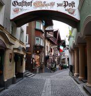 Tomma gator i Österrike under landets nedstängning. Matthias Schrader / TT NYHETSBYRÅN