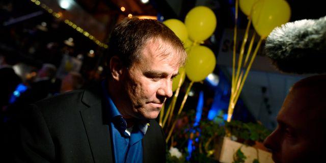 Martin Wannholt på valkvällen Björn Larsson Rosvall/TT / TT NYHETSBYRÅN
