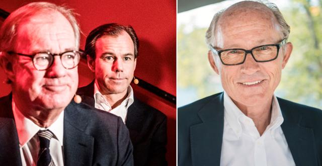 Stefan och Carl-Johan Persson tillsammans med Mats Qviberg. Magnus Hjalmarson Neideman/SvD/TT