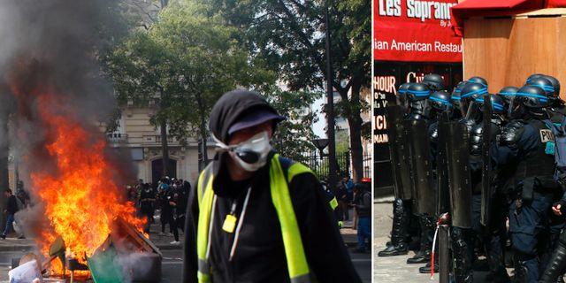 Demonstrationerna i Paris. TT