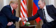 Donald Trump och Vladimir Putin under ett möte i Helsingfors i Finland förra året.  Pablo Martinez Monsivais / TT NYHETSBYRÅN/ NTB Scanpix