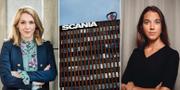 Frida Bratt, Nordnets sparekonom, Scania och Avanzas sparekonom Johanna Kull.  TT