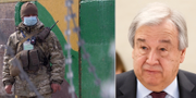 Soldat i Ukraina/António Guterres. TT
